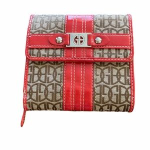 Nice Giani Bernini Pink Trimmed Initialled Wallet